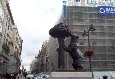 Plaza del centro de Madrid, capital de España