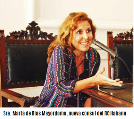 Nueva Cónsul del RC CE Habana